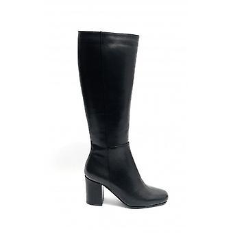Women's Shoes Elite Calf Boot Tc 70 Leather Black Color D20el03