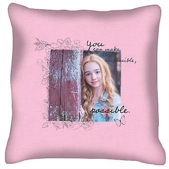 Holly Hobbie You Can Make The Impossible Possible Dark Text Cushion