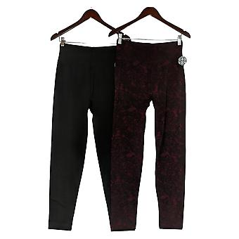 Nina Leonard Leggings / L 2-pack Fleece-Lined Black 729076