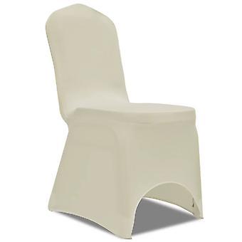 vidaXL Stretch chair husses 100 pcs. cream