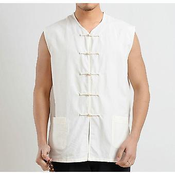 Chemises d'été, Cotton Coarse Jacket Male, Shaolin Monks Vest