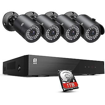 MTM Auen Video berwachungsystem 8CH 5MP H.265+ DVR Recorder mit 4X Outdoor 5MP berwachungskamera