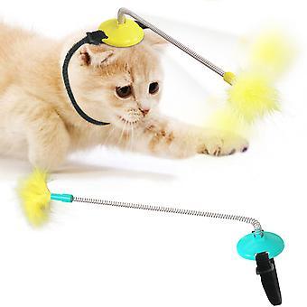 Haustier liefert Hersteller Explosionen Katze Self-Hey Kragen Hals Spielzeug Frühling Fuß mit Hahn zu Tease Katze Stick Frühling Katze Stick