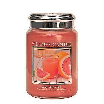 Village Candle Premium 26oz Scented Candle Jar Juicy Grapefruit