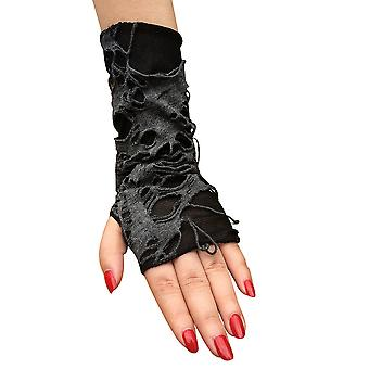 Begar Punk Cosplay Gloves With Holes Halloween Costume Black