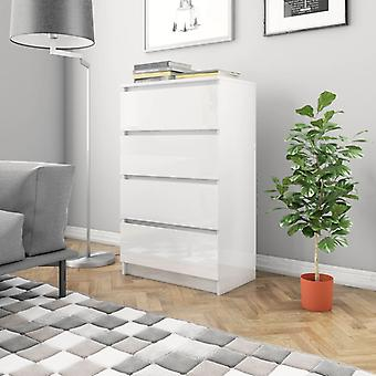 vidaXL Sideboard blanc brillant 60x35x98,5 cm plaque de particules