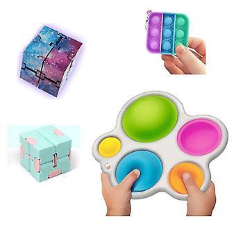 New PRO set - 4 pack Fidget Toys Set för barn och vuxna NYHET