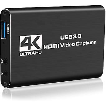 FengChun YH Game Capture Card, 4K USB 3.0 HDMI Capture Card mit 1080P 60FPS HDMI-Loop-Out
