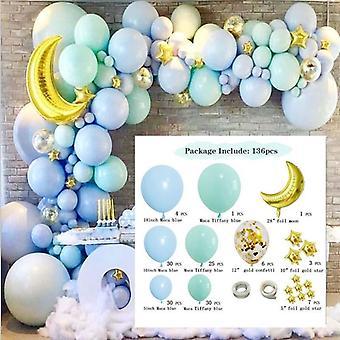 Party wedding birthday celebration balloons decorations 136pcs blue moon