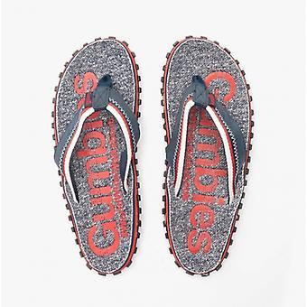 Gumbies Cairns Mens Jersey Flip Flops Red