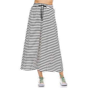Gestreepte rok met elastische taille