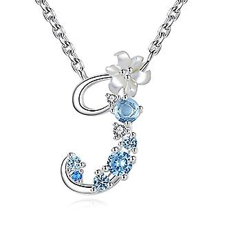 Gemshadow initial Sterling 925 silver necklace with zircon letter personalized gifts for girls and 925, cod. AQEN000062