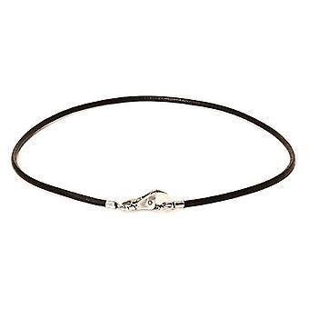 Trollbeads Necklace Collana Cuoio Nero 45 cm
