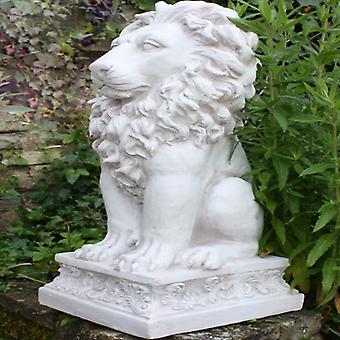 Stone Effect Sitting Lion Statue