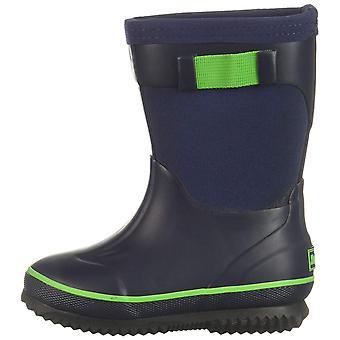 Northside Girls' NEO Rain Boot, Navy/Green, 7 Medium US Toddler