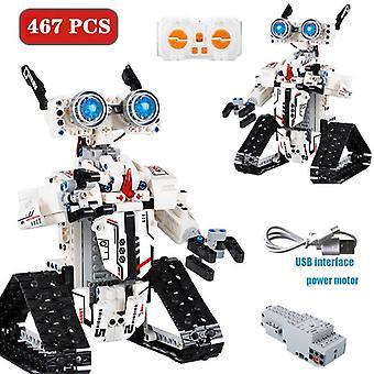 NEUE Stadt 467 PCS Bausteine Steuerung Intelligentes Bauspielzeug für Kinder| RC Roboter (Weiß)