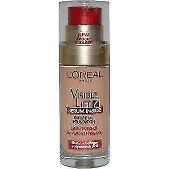 3x L'Oreal Paris Visible Lift Serum Foundation 150 Rosy Natural 30ml Sealed