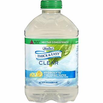 Hormel Thickened Water Thick & Easy Hydrolyte 46 oz. Container Bottle Lemon Flavor Ready to Use Nectar Co, 1 Each