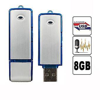 2 i 1 Mini 8GB USB 2.0 Digital Röstinspelare uppladdningsbar inspelning