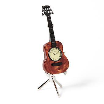 Musikwissenschaft Miniaturuhr - Gitarre