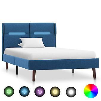 """מסגרת מיטת vidaXL עם בד כחול LED 100×200 ס""""מ"""