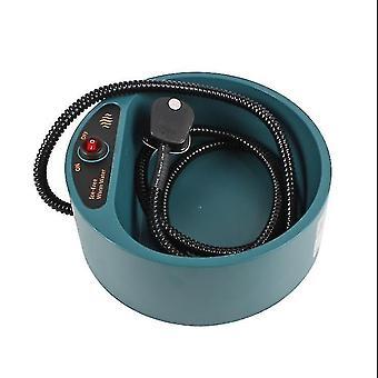 Lämmityskulho Koiran ruokalevy Automaattinen vakiolämpötila ja lämmönvakamisvesikulho (vihreä)
