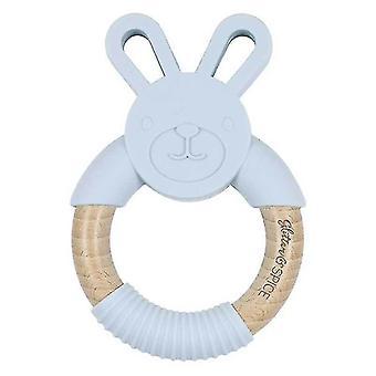 Natuurlijke Bunny Rabbit Baby Bijtring, 100% Bpa Gratis Pure Food Grade (Grijs)