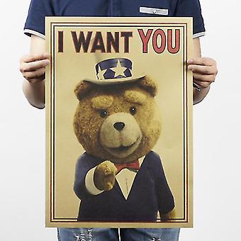Tijdschriften kranten ik wil je teddybeer vintage kraft papier klassieke poster