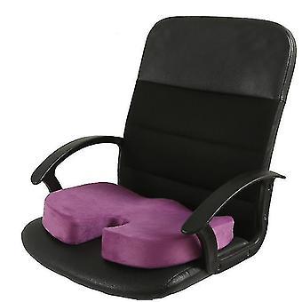 Muistivaahto istuintyyny auton istuimille, kotitoimistoon & Matkatyyny (violetti)