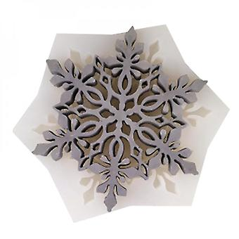 Round Hollow Flower Snowflake Coaster Silicone Mold Uv Resin Epoxy Mould Jewelry Making Handmade Tools