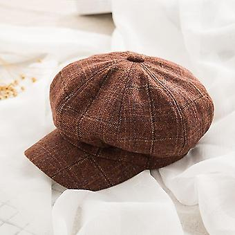 Hatut talvi syksy kahdeksankulmainen puuvilla sekoitus baretit lippikset