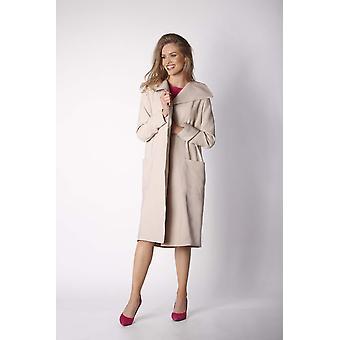 Beige nommo jackets & coats v41729