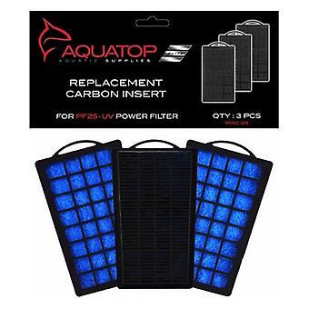 Aquatop Replacement Premium Activated Carbon Insert - PF25-UV - 3 count