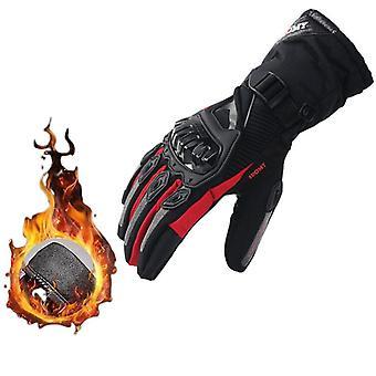 Gants de moto Moto Luvas Écran tactile Gants plein doigts Mitaines chaudes Hiver