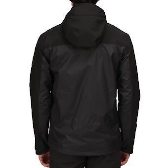 Regatta Mens Highton Stretch Waterproof Shell Hooded Walking Hiking Jacket - Ash
