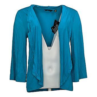 IMAN Global Chic kvinners genser Reg 3/4-ermet cardigan blå 752777