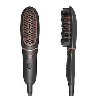 negativ ion mini hår rettetang børste, elektrisk varm kam