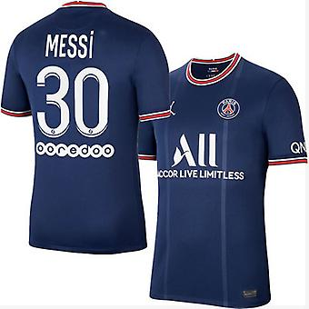 21-22 Paris Saint-germain Jersey Messi No. 30 Home Short-sleeved French Football Jersey