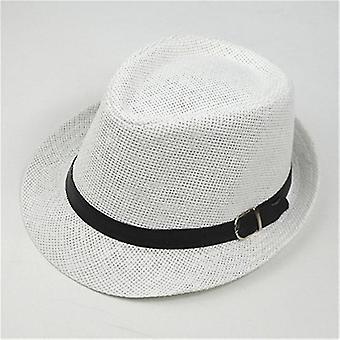 Fedoras Top Jazz Plaid Hat - Wiosenny Letni Melonik Capwhite