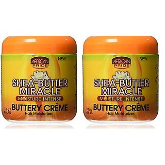 African Pride Shea Butter Miracle Buttery Creme 180 ml (2 Pack)