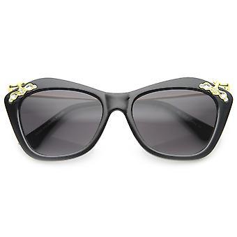 Lunettes de soleil design élégance haute Templed Cat Eye w / strass