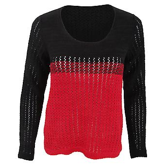FLOSO Womens/Ladies Deauville Two Tone Knitted Jumper (British Made)