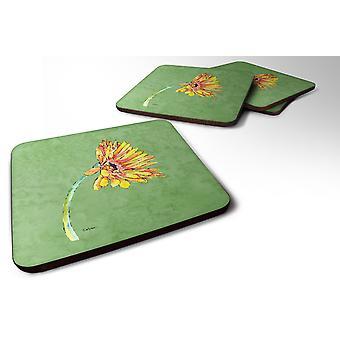Carolines schatten 8854FC Set van 4 Gerber Daisy oranje Foam Coasters