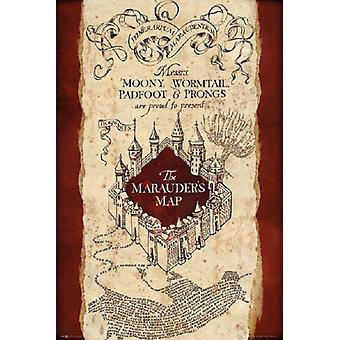 Harry Potter Marauders Map Poster Plakat-Druck