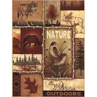 Lodge Collage II affisch Skriv av Ed Wargo (12 x 16)