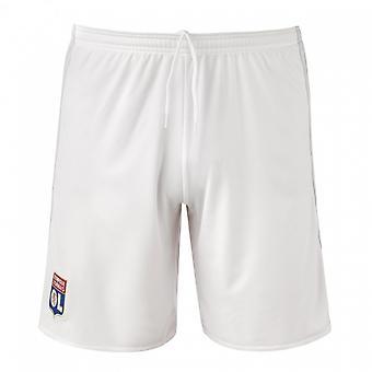 2017-2018 Olympique Lyon nach Hause Adidas Shorts (weiß) - Kinder