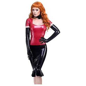 Westward Bound Red Label - Nadia Pencil Latex Rubber Skirt