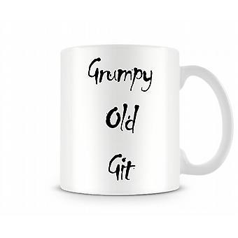 Griniga gamla Git tryckta mugg