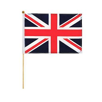 Elgate Union Jack Hand Wave Flags (Pack of 12)