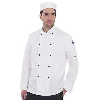 Dennys Lightweight langærmet kokke jakke - DD20